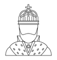 King icon in outline style vector image