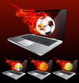 laptop burning vector image vector image