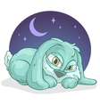 Little sleepy rabbit vector image