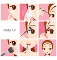 Make Up Step vector image vector image