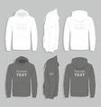 Men sweater design template vector image vector image