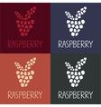 mosaic raspberry design template vector image vector image