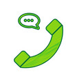 phone with speech bubble sign lemon vector image vector image