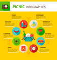 picnic concept infographics vector image vector image