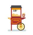 popcorn machine flat vector image