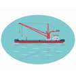 Red floating crane vector image vector image