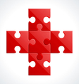 red puzzle vector image
