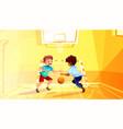 school boys play basketball vector image vector image