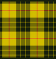 scottish plaid black bands on yellow macleod vector image vector image
