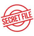 secret file rubber stamp vector image vector image
