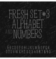set hand drawing alphabet and numbers vector image vector image