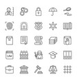 set law and justice line icons criminal vector image