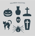 Set of silhouettes for Halloween party vector image