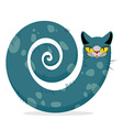 Snake cat Fantastic mythical pet Cute dreamlike vector image vector image