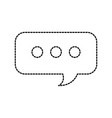 speech bubble chat message service support vector image
