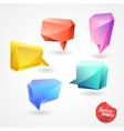 Speech Bubble polygon 3D vector image vector image