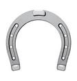 steel metal horseshoe luck symbol fortune talisman vector image vector image