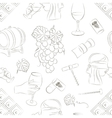 Tasting wine icons pattern vector image vector image