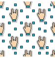 Thumbs Hand Rock seamless pattern gestures vector image vector image