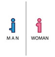 toilet sign in pure funny style vector image vector image