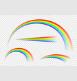 transparent abstract rainbow collection in vector image vector image