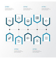 user outline icons set collection of launch back vector image vector image