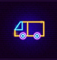 van neon sign vector image