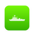 warship icon digital green vector image vector image
