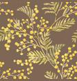 Watercolor mimosa pattern