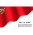 waving flag on transparent background vector image