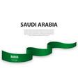 waving ribbon or banner with flag saudi arabia