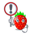 with sign character strawberry sweet in store vector image