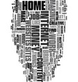 work at home for fun and profit text word cloud vector image vector image