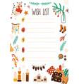 xmas wish list flat notebook vector image