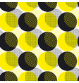 yellow round geometry seamless pattern vector image vector image