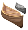 Classic wooden boat in cartoon style vector image