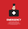 Hand Holding First Aid Box vector image
