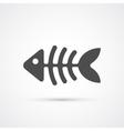 Fishbone trendy icon vector image