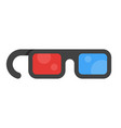 flat style icon 3d movie glasses vector image