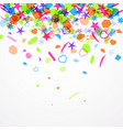 abstract festive background with colorful confetti vector image
