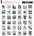 baby classic black mini concept symbols vector image vector image