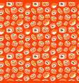 beautiful seamless pattern with sushi vector image vector image