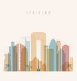 benidorm skyline detailed silhouette transparent vector image vector image