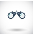 Binoculars flat icon vector image