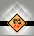 black friday promotional banner template with vector image vector image