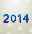 blue 2014 christmas background vector image vector image
