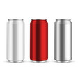 cans aluminum realistic metal blank can beer vector image vector image