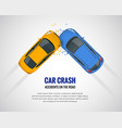 car crash car accident top view isolated on a vector image