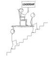cartoon of two men or businessmen carrying boss vector image vector image