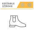 chelsea boot editable stroke line outline icon vector image vector image